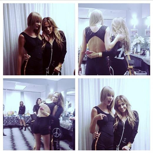 ¡Taylor Swift y Jennifer López sorprendieron uniéndose en el escenario!