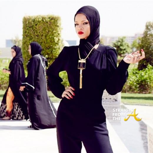 Rihanna expulsada de una mezquita en Abu Dhabi