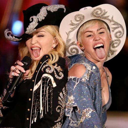 Miley Cyrus y Madonna, juntas sobre el escenario