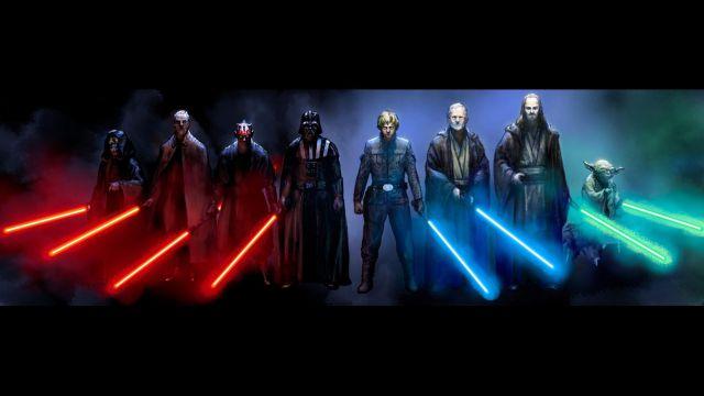 ¿Qué significan los colores de los sables láser de Star Wars?
