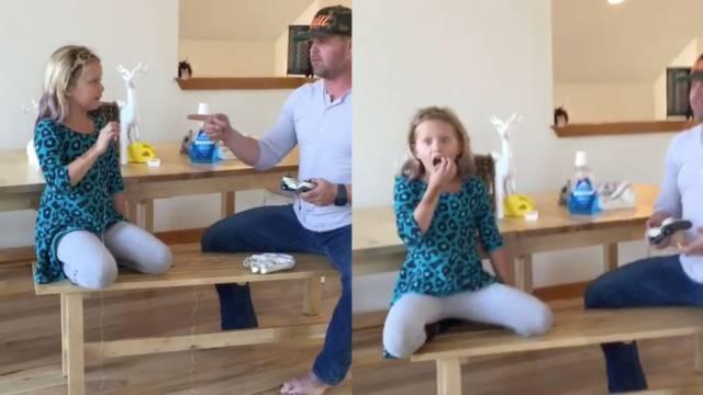 Padre usa drone para sacar diente a su hija