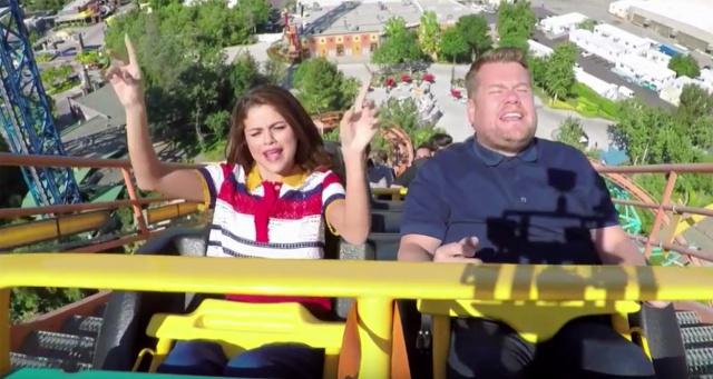 Selena Gómez se monta en la montaña rusa... para el Carpool Karaoke!