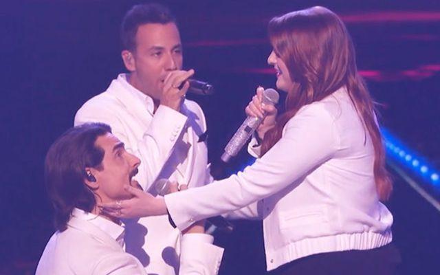 Meghan Trainor cantó con los Backstreet Boys