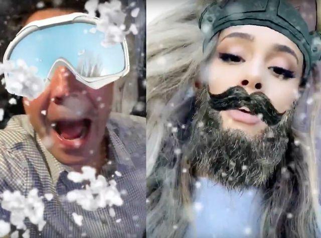 Ariana Grande vrs Jimmy Fallon en Snapchat