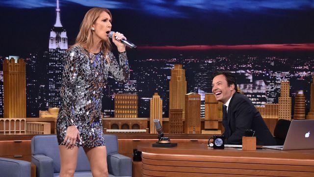 Celine Dion imita a Sia y Rihanna en el Tonight Show