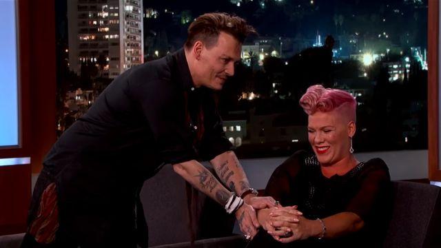 Pink está enamorada de Johnny Depp