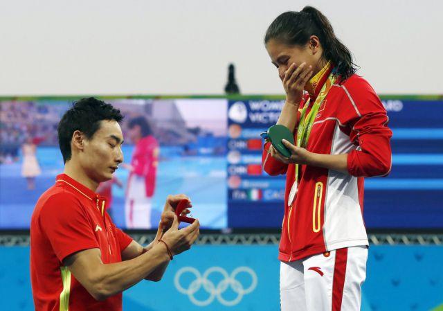 Gana medalla olímpica y le proponen matrimonio