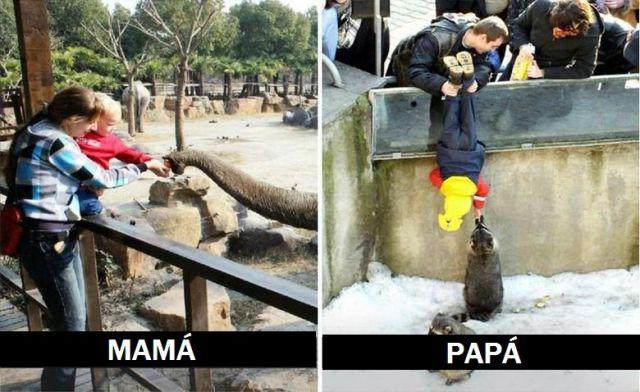 A quién prefiero: ¿mamá o papá?