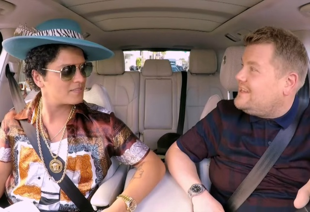 ¡Bruno Mars descontroló el Carpool Karaoke!