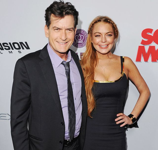 Charlie Sheen reveló detalles sobre la noche con Lindsay Lohan