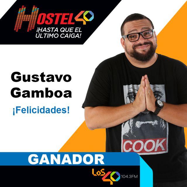 Y el ganador del Hostel 40 es: Gustavo Gamboa