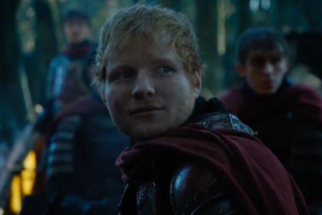 Ed Sheeran se robó el show en el estreno de la sétima temporada de Game of Thrones