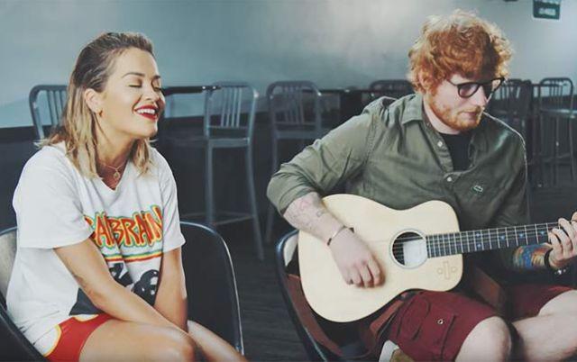 ¡Perfectos! Rita Ora y Ed Sheran cantan
