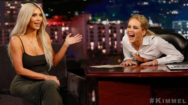 Jennifer Lawrence hizo las preguntas incómodas que siempre quisimos saber de Kim Kardashian