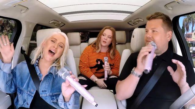 Christina Aguilera canta sus grandes éxitos con James Corden