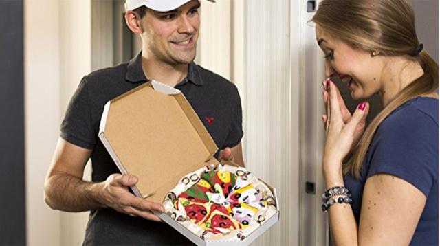 Si te gusta la pizza, amarás estas medias