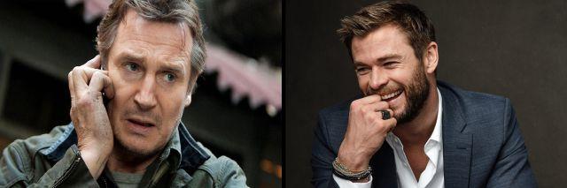 Liam Neeson y Chris Hemsworth se convertirán en