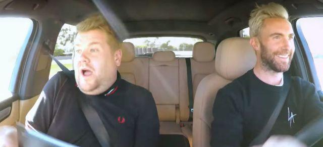 Adam Levine le aumentó la velocidad al Carpool Karaoke