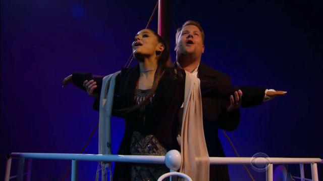 Ariana Grande y James Corden protagonizaron el musical de Titanic