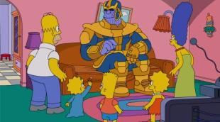 Thanos hace desaparecer a Los Simpson con un chasquido