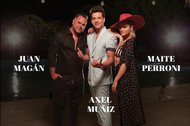 Axel Muñiz, Maite Perroni y Juan Magán presentan el tema 'Sin ti'