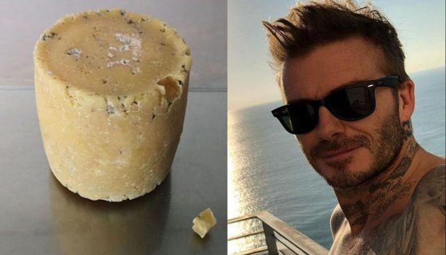 Elaboran un queso con bacterias de los pies de David Beckham