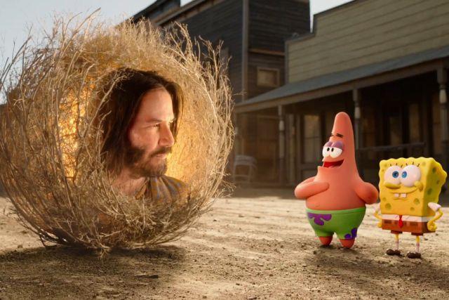 Nuevo trailer de Bob Esponja muestra a Keanu Reeves como una planta rodante