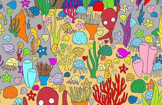 Reto viral: ¿Lográs encontrar al pez?