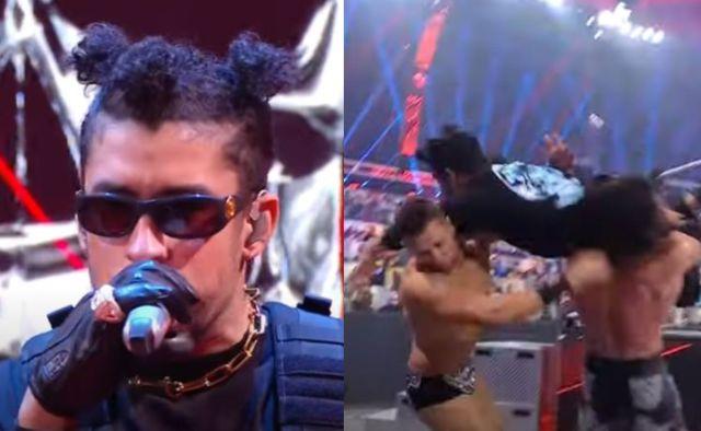 ¡Por los aires! Bad Bunny debuta como luchador de la WWE